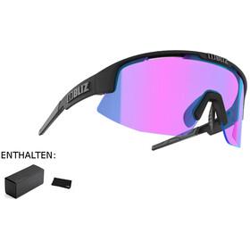 Bliz Matrix M11 Okulary dla wąskich twarzy, matte black/violet/blue multi nordic light